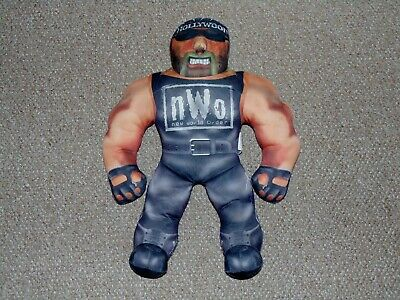 "1998 Toy Biz 21"" WCW Hollywood Hulk Hogan NWO Bashin Buddy Plush Tested Works"