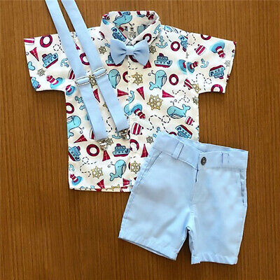 AU 2Pcs Toddler Kids Baby Boy Clothes T Shirt Tops & Shorts Pants Summer Outfit
