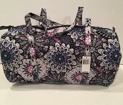 NEW Vera Bradley Large Traveler Duffel Bag Mimosa Medallion Pattern Fold Quilted