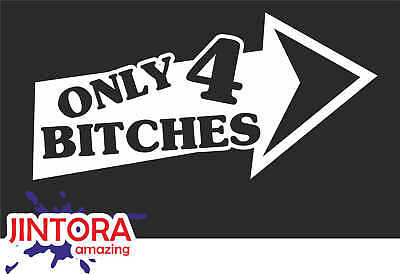 JDM i brake for bitches Sticker // Car Decal Tuning White 967 193x99 mm