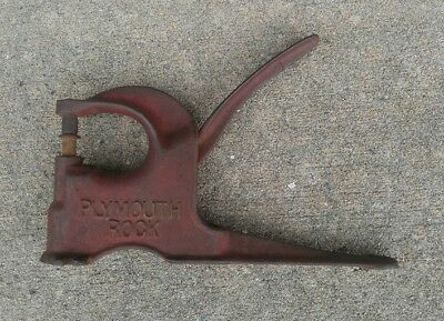 Antique Cast Iron Plymouth Rock Leather Punch Tool Press Riveter