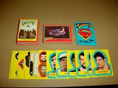 Full base set Topps Superman 2, 88 cards & 12 of 22 stickers w/wrapper N-MT 1980