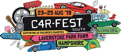 Carfest South 2019 Tickets - 2 x Adult Weekend Camping - LESS THAN FACE VALUE