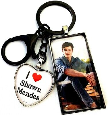 Shawn Mendes Photo 50 Mm  Key Ring Black Strong Chain Singer Gift Box Birthday