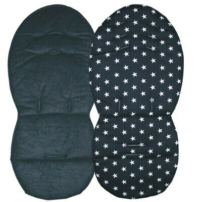 Black Large star design Seat Liner & Harness Pad set to fit icandy pushchairs