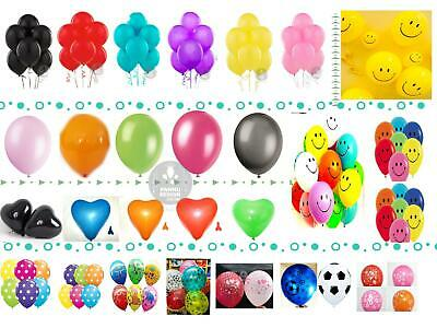 5-100 LARGE PLAIN BALONS  helium BALLOONS Quality Birthday Wedding BALOON