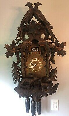 """Rare, 36"""", Musical, 8-Day, Cuckoo Clock In Beautiful Working Condition. Video"""