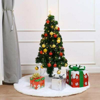 Tree Skirt Soft Snow Holiday Tree Ornaments Tree Cover Home Party Decor 120 cm
