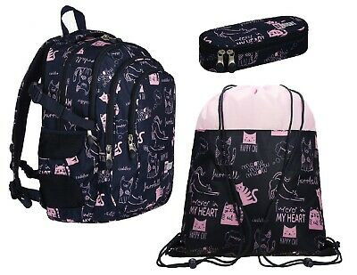 St.Right CATS set Zaino 43x33x20cm ,Astuccio,Sacca Sport Scuola Media Superiori