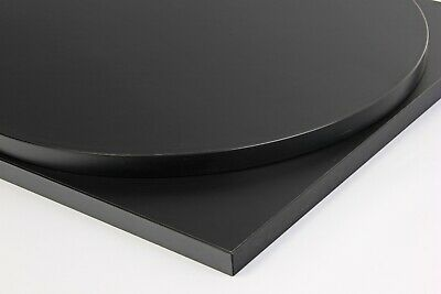 Square and Rectangle Restaurant Table Top Cafe Dining Bar Club Black Laminate