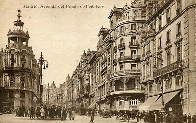 Bf23008 Madrid Avenida De Jose Antonia Spain Front Back Image