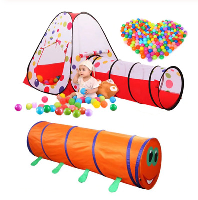 Playhouse Tunnel Tent Toy Pop Up Portable Folding Crawling Play Tunnels Kid Toys