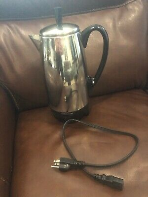 Farberware Superfast Percolator Coffee Pot 2-12 Cup Electric Stainless Fcp 412