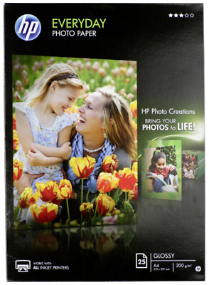 HP Fotopapier, glossy A 4 200 g, 25 Sheets Q 5451 A NEW