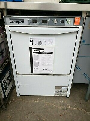 Champion Uh130B High Temp Undercounter Dishwasher Built In Booster 25 Racks/Hr
