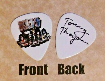 KISS - band TOMMY THAYER signature logo END OF THE ROAD guitar pick -(q1)