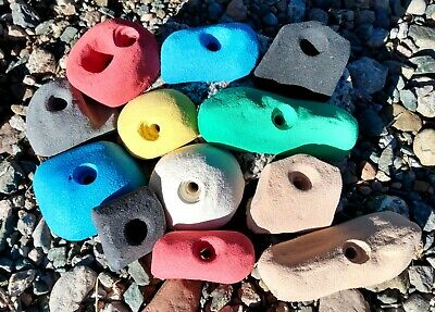 Climbing Holds Pack- 12 large bolt-on rock climbing wall hand holds
