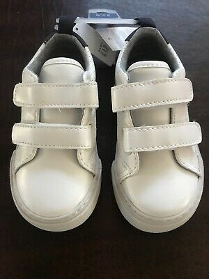 GAP Baby / Toddler Boys NWT Size 5,6, 8 & 9 White Velcro Sneakers Shoes
