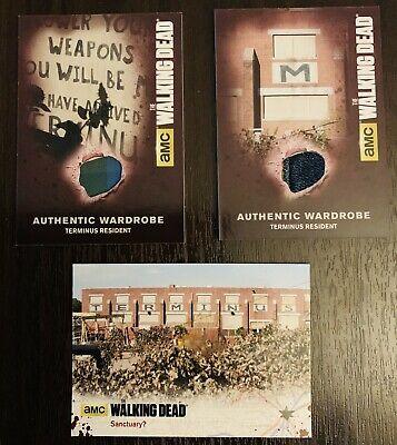 The Walking Dead Wardrobe Cards. Terminus Residents.