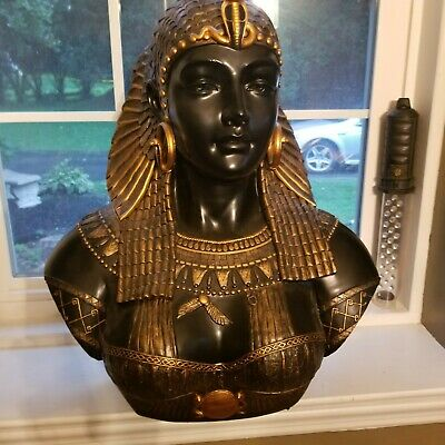 Neoclassical Life-Size Egyptian Statue Queen Cleopatra Sculptural Bust large