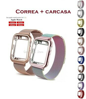 Correa Pulsera + Caja Milanese Loop De Metal Para Apple Watch 1/2/3/4/38-40-42
