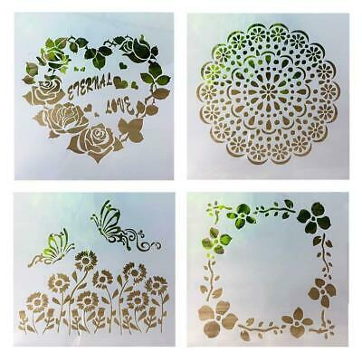 DIY Layering Rose Flower Stencils Template Walls Painting Stamping Scrapboo A0L7