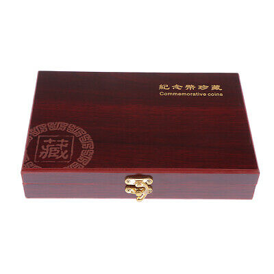 Coin Holder Display Box Case Wooden for 27mm Coins/Medals 50 pcs Storage