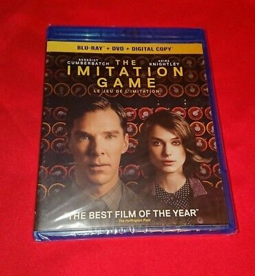 NEW SEALED The Imitation Game Bluray DVD COMBO Blu Ray SET ENGLISH + FRENCH LOOK