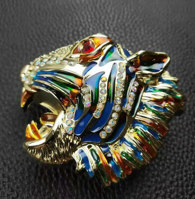 Womens Tiger Diamonds Pin Buckle Only For 38 Mm Belts Designer Belt Buckles New