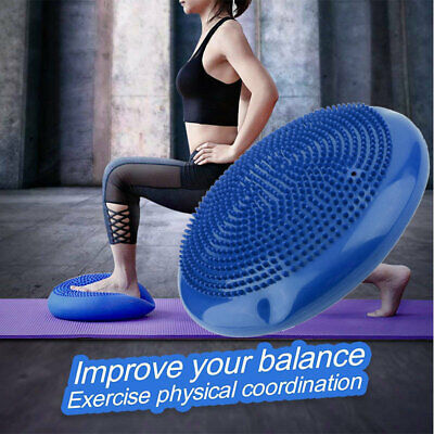 Yoga Balance Board Disc Gym Stability Air Cushion Wobble Pad Physio w/ Pump  TN