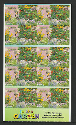 Australia 2019 : Stamp Collecting Month - In the Garden, Booklet of 10 x $1 s/a