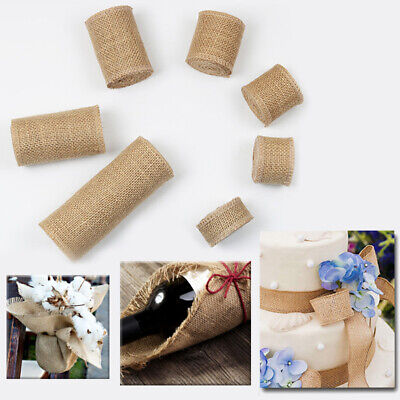 1M//Roll Natural Burlap Ribbon for Arts /& Crafts Homemade DIY Projects Wedding