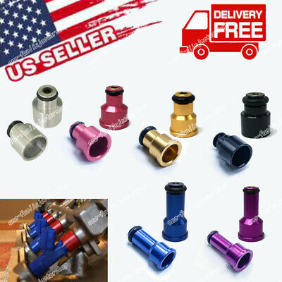 /> EV14 48mm 14mm Fuel Injector 2200cc 210lb Adapter Hats w// Filters Short NGI-2