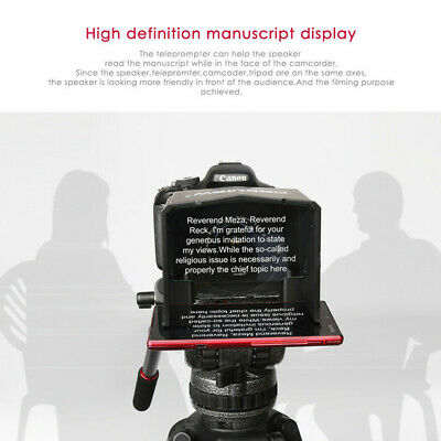 Easy Operate Mini With Adapter Ring ABS DSLR Camera Phone Use Teleprompter Set
