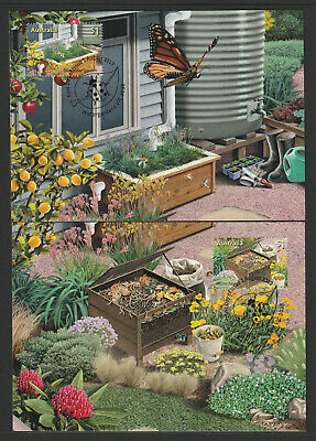 Australia 2019 : Stamp Collecting Month - In the Garden, Set of 5 Maxicards.