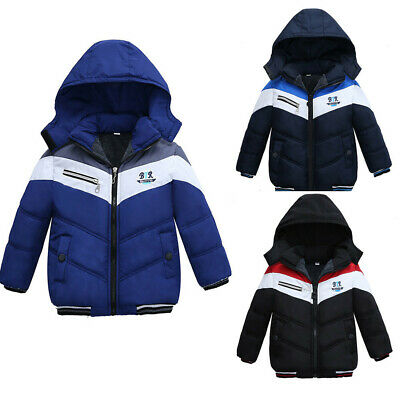 Fashion Kids Coat Boys Girls Solid Winter Warm Thick Coat Padded Jacket Clothes