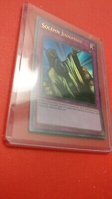 1x Yu-Gi-Oh! SOLEMN JUDGMENT - BLRR-EN100 - Ultra Rare - 1st Edition - NM