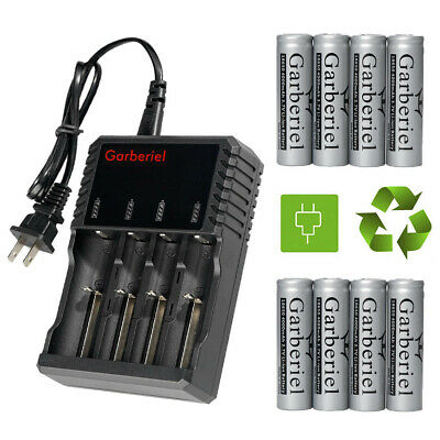 Lot Rechargeable 18650 4000mah 3.7V Li-ion Flat Top Battery For LED Torch Light