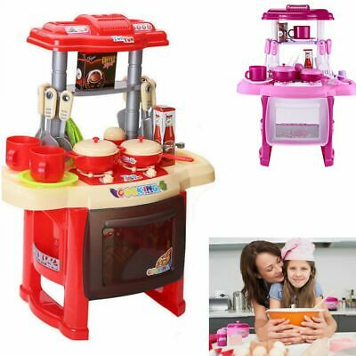 Portable Electronic Kids Child Toy Cooker Play Set Kitchen Role Pretend Cooking