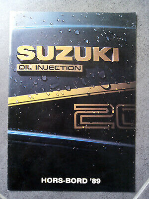 SUZUKI HORS-BORD 89 oil injection Outboard Motor Sales Brochure 1989