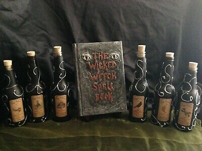 Halloween Haggs Apothecary Potions & Witch spell book  prop Spooktacular Decor