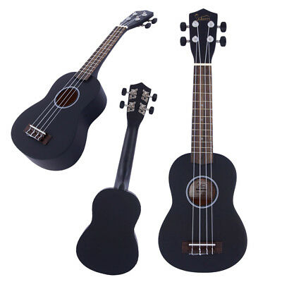 "Glarry Black 21"" Invh Soprano Basswood Childern Students Ukulele Uke w/ Gig Bag"