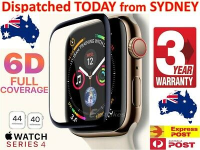 For Apple Watch 5 / 4 44 & 40 mm 6D Curved Tempered Glass FULL Screen Protector