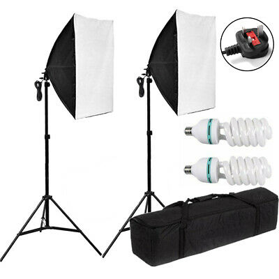 2 X 135W Softbox Photography Studio Continuous Lighting Kit w/ Light Stand & Bag