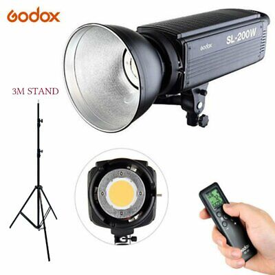Godox SL-200W 200Ws 5600K Studio LED Continuous Video Light Lamp with 3M Stand