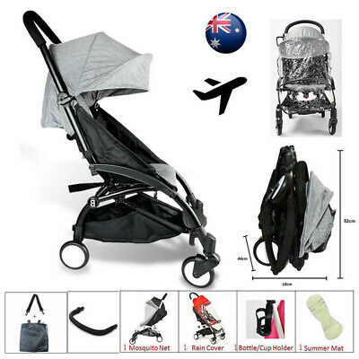 Compact Lightweight Baby Stroller Pram Easy Fold Carry on Plane Pushchair New AU