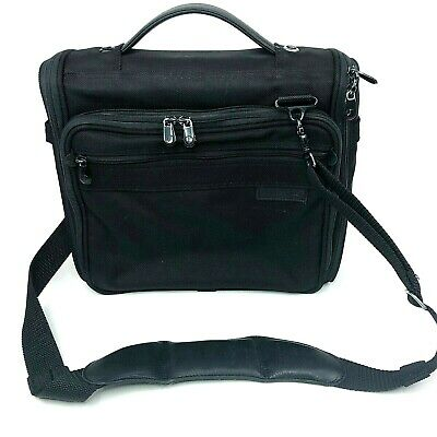 BRIGGS & RILEY Duffel Bag Carry On Tote Travel Luggage Black w/Shoulder Strap
