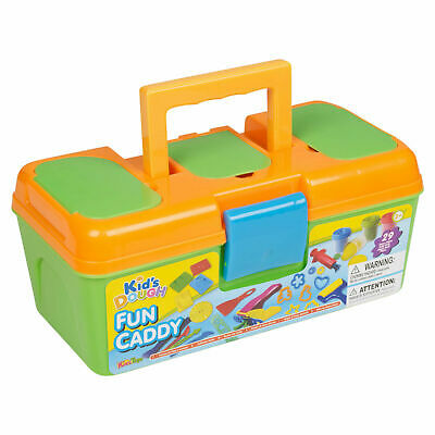 29 Pc Clay Toy Dough Set With Carry Modelling Shapes Tool Case Kids Craft Gift