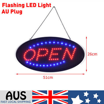 51cm Flashing Led Light Open Electric Sign Board Business Shop Cafe Restaurant