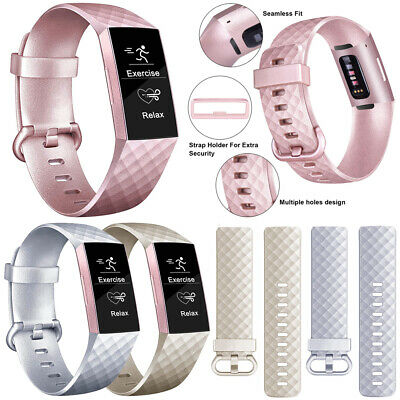 Premium Fitbit Charge 3 Strap Sports Wrist Band Silicone Replacement Small Large
